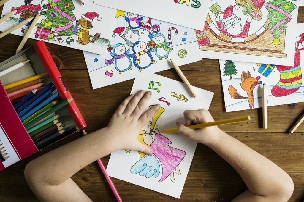 dibujar con lápices de colores