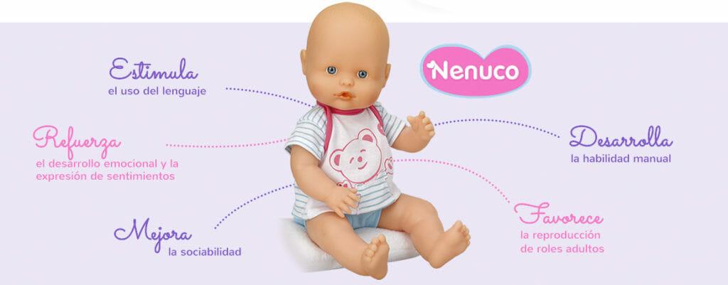el secreto de las muñecas Nenuco, estimula, refuerza, mejora, desarrolla y favorece