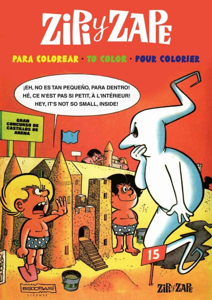 libro de Zipi y Zape para colorear