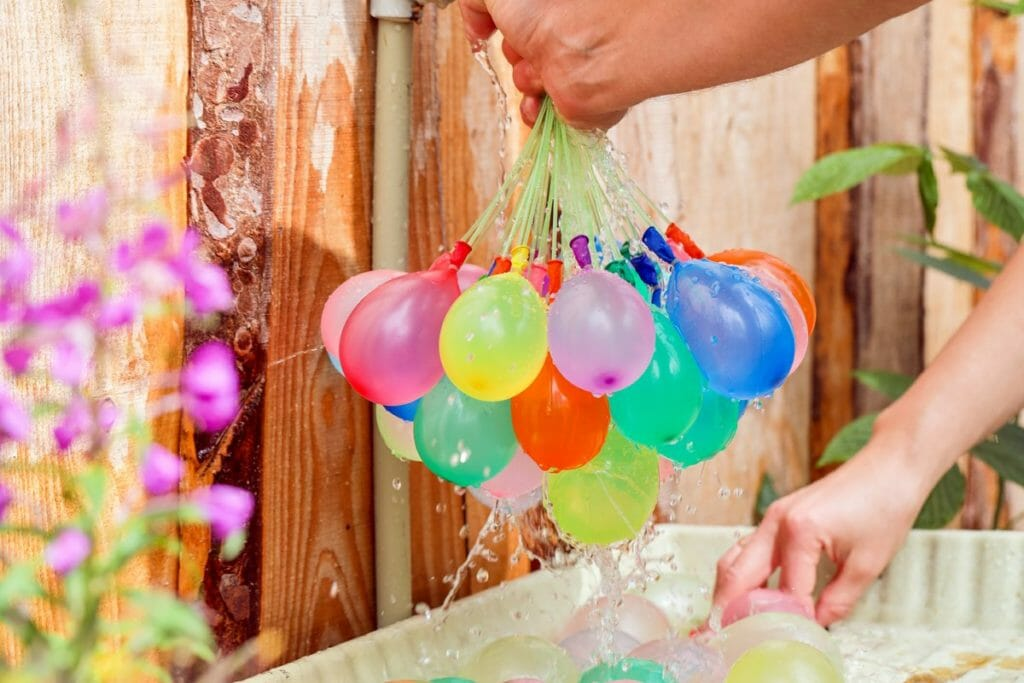 hinchador de globos de agua para llenar 30 globos a la vez