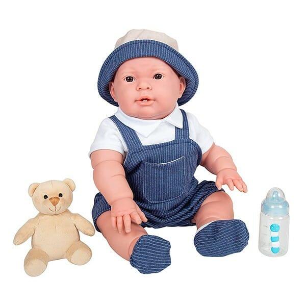 Muñeco Newborn Lucas con Osito y Biberón